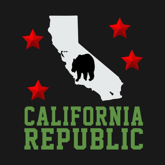 california republic bear california map gift idea