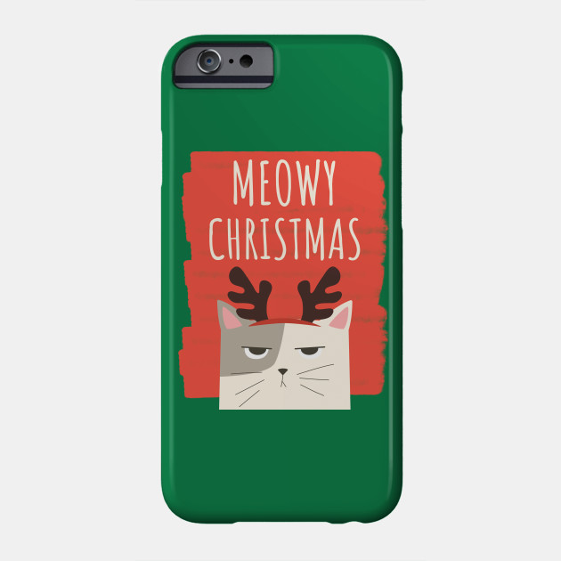 Christmas Cat Merry Christmas Holiday Phone Case