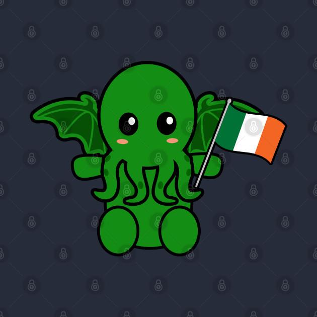 Cthulhu With An Irish Flag