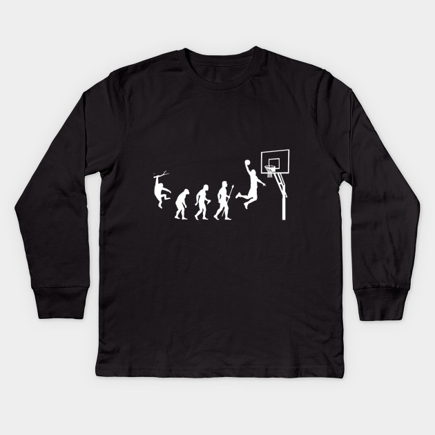 c07754624 Cool basketball shirt showing the evolution of man to basketball Kids Long  Sleeve T-Shirt