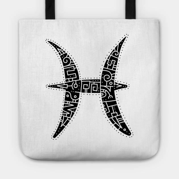 Pisces Symbol Zodiac Tote Teepublic