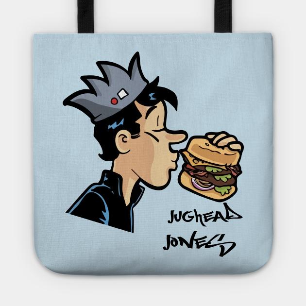 Jughead Jones Eating Burger