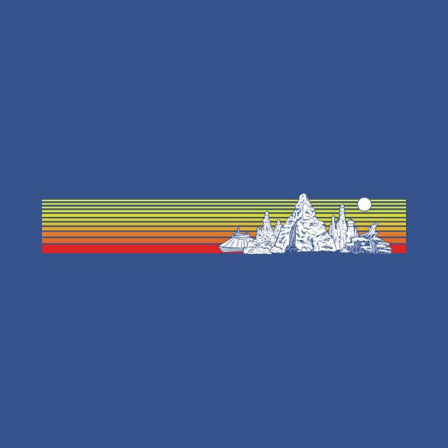 Retro Mountain Stripes