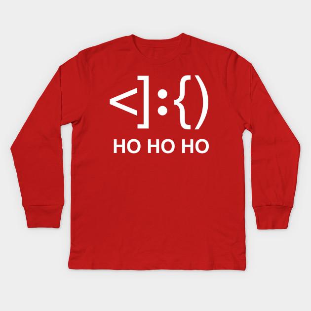 Santa Face Keyboard Symbols Santa Kids Long Sleeve T Shirt