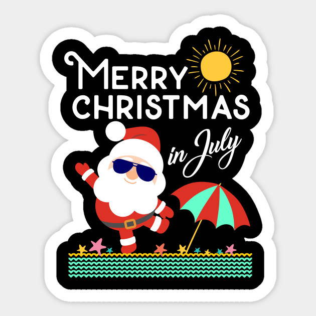 Christmas In July Party Clipart.Merry Christmas In July Shirt Decoration Party Supplies