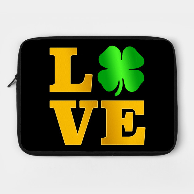 Love Shamrock T Shirt Ireland St Paddy irish Gift Tee