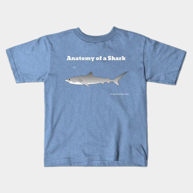 Anatomy of a Shark T-Shirt (white text) - Anatomy Of A Shark White ...