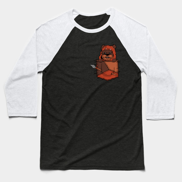 b624944d9 Ewok Pocket - Ewok - Baseball T-Shirt | TeePublic