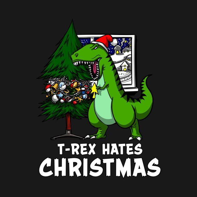 T-Rex Hates Christmas Funny Dinosaur Short Arms - T Rex ...