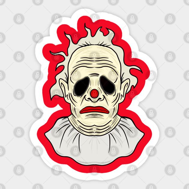 Wrinkles Wrinklestheclown Sticker Teepublic