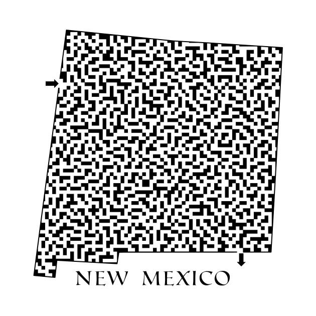 e50457e1965 State of New Mexico Maze State of New Mexico Maze