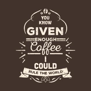 Humor Tee - Coffee Rules