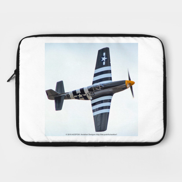 P-51B Mustang With Invasion Stripes