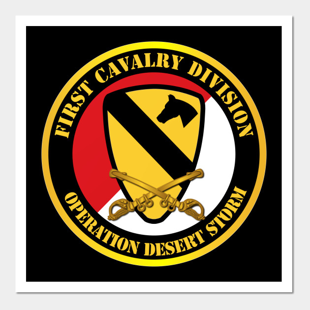 1st Cavalry Div - Red White - Operations Desert Storm - 1st Cavalry ...