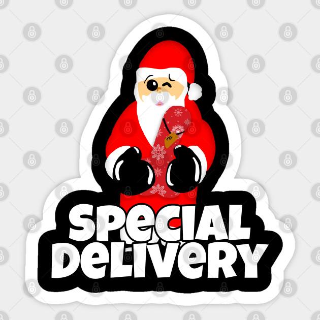 Special Delivery Naughty Santa Dildo Sex Toy Naughty Santa Autocollant Teepublic Fr