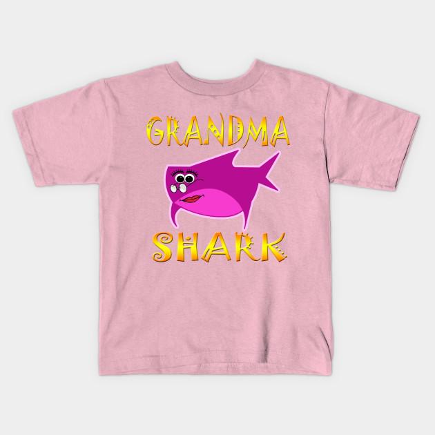 Grandma Shark Funny Tshirt Design - Grandma Gift Ideas - Kids T ...