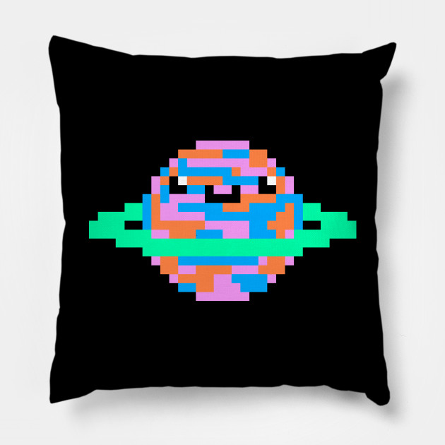 Super Cute Pixel Planet Kawaii Pixel Art Kawaii Planet Slim Fit T Shirt