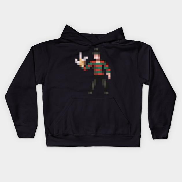Freddy Krueger Low Res Pixelart 8 Bit Kids Hoodie Teepublic