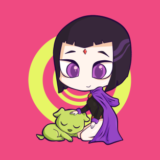 Raven and the puppy
