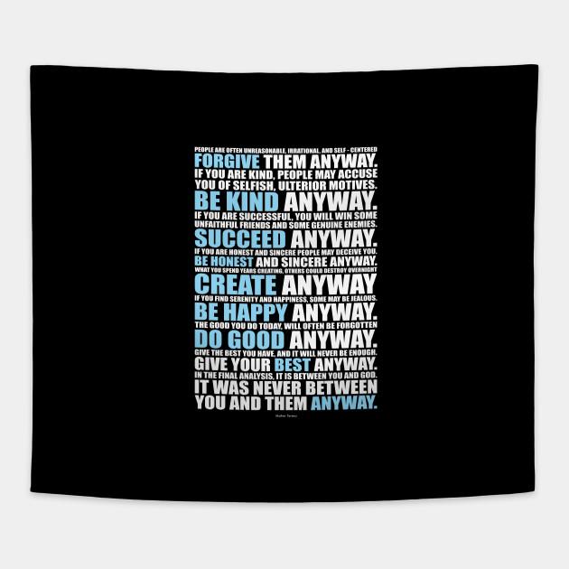 Mother Teresa Inspirational Quotes Mother Teresa Tapestry