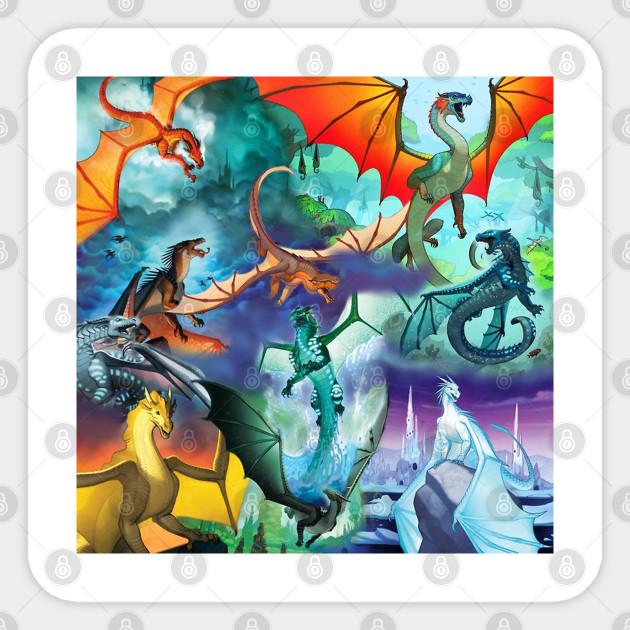 Wings Of Fire All Dragon Series Wings Of Fire Aufkleber Teepublic De