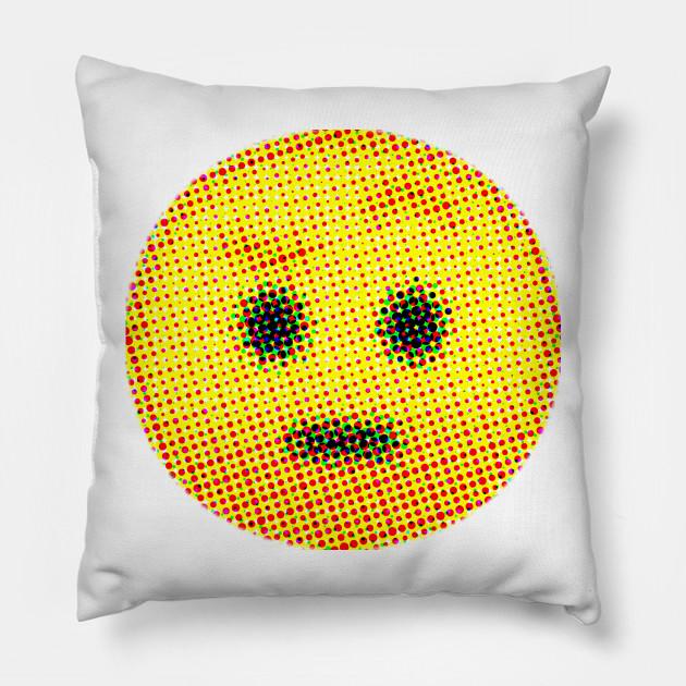 Emoji Suspicious Face With Raised Eyebrow Emojis Pillow