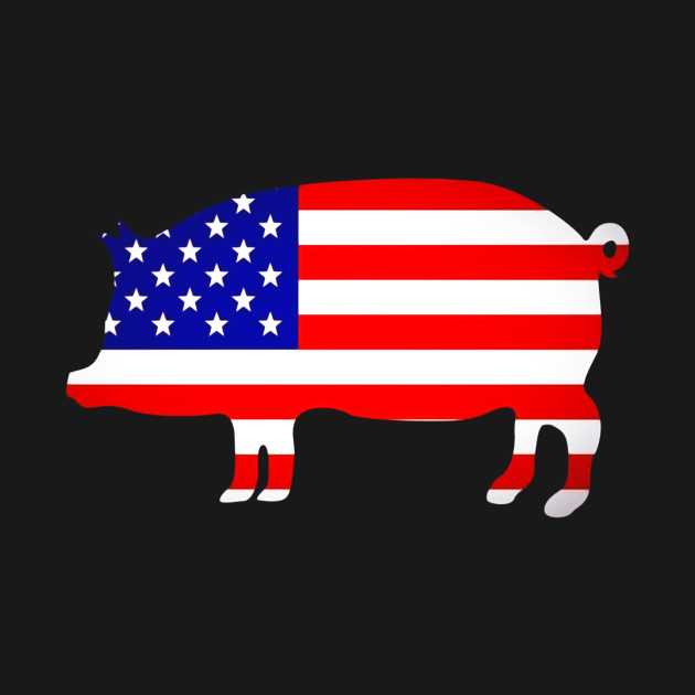 pig flag american july independence 4th shirt gift teepublic designs thanksgiving
