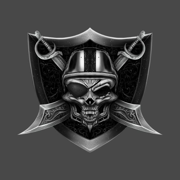 raider skull raiders t shirt teepublic
