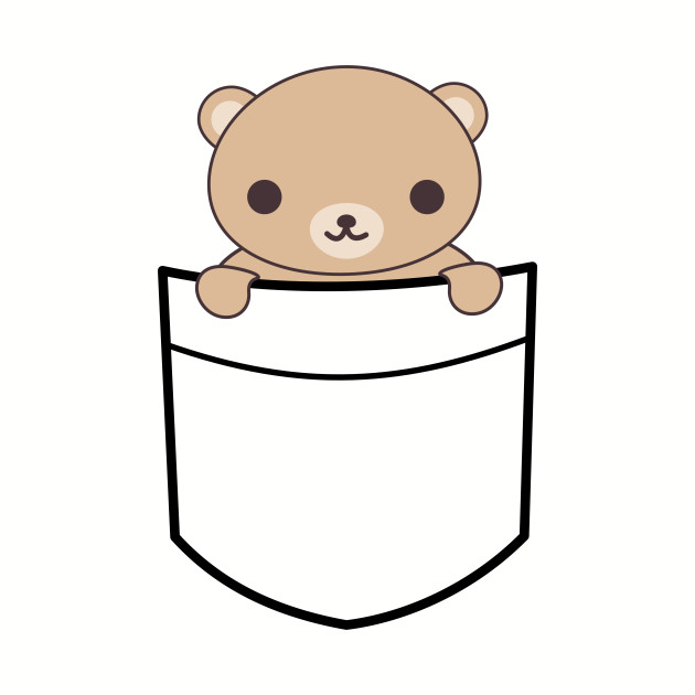 Cute Pocket Brown Bear T-Shirt