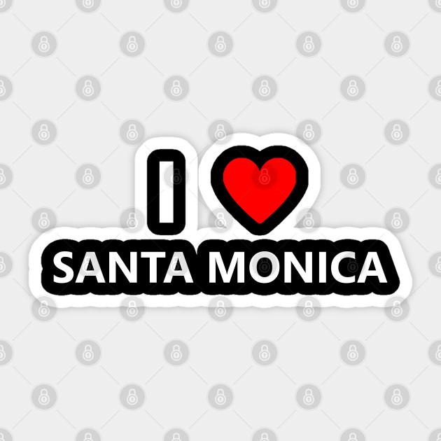 I Heart Santa Monica California Love Ca Tourist Souvenir City Heart Santa Monica California Love Sticker Teepublic