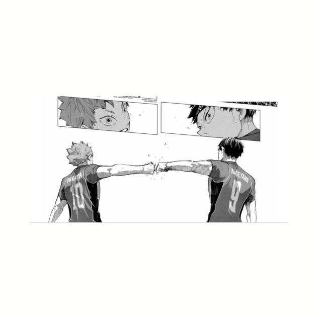 Hinata and Kageyama Haikyuu Manga Panel