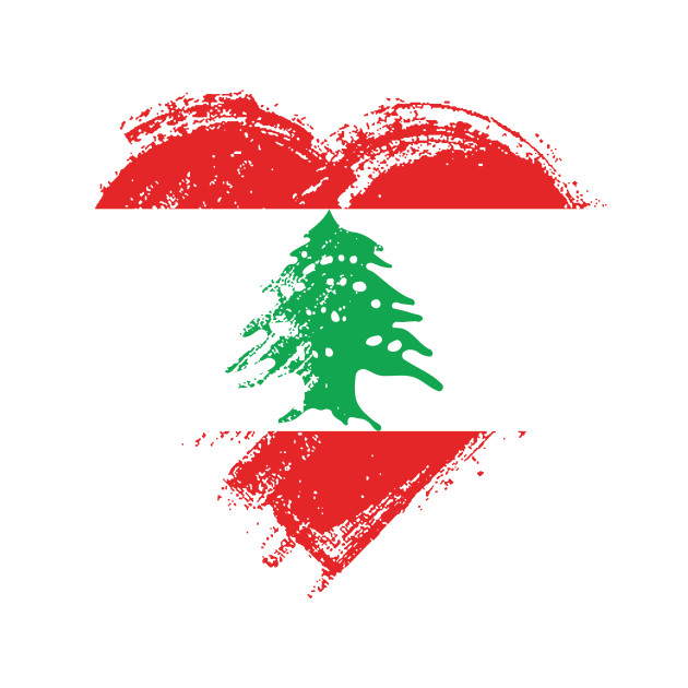 grungy i love lebanon heart flag lebanon phone case