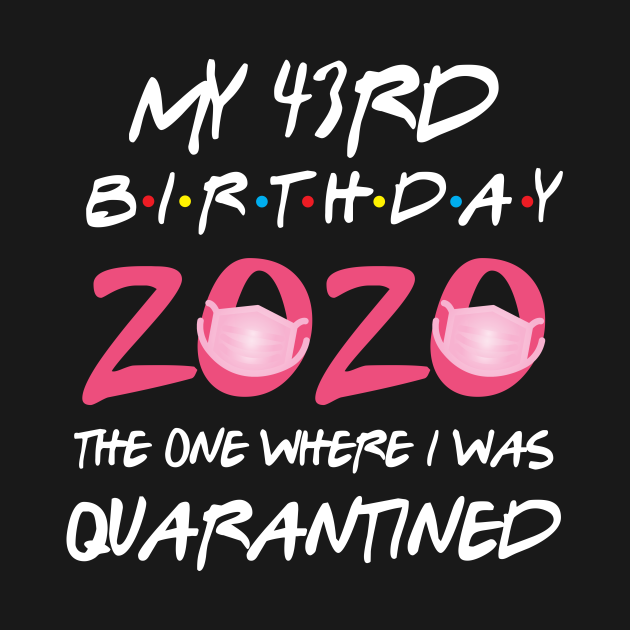 43rd birthday 2020 the one where i was quarantined