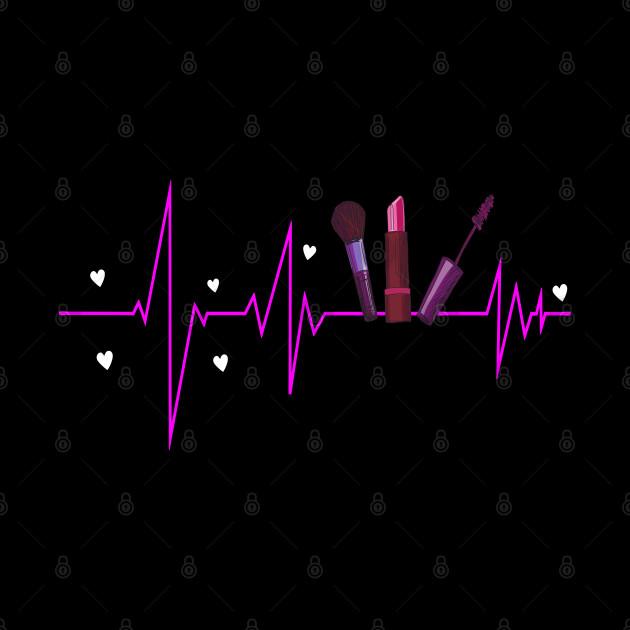 Makeup Artist Lover Heartbeat Gift