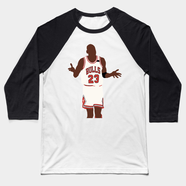 Michael Jordan Shoulder Shrug - Michael Jordan - Baseball T-Shirt ... 26cfed7c0
