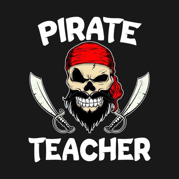Pirate Teacher Elementary School Funny Halloween teacher T-Shirt