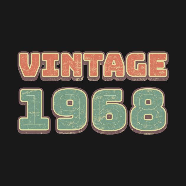 Vintage 1968 Birthday Gift Idea for Men
