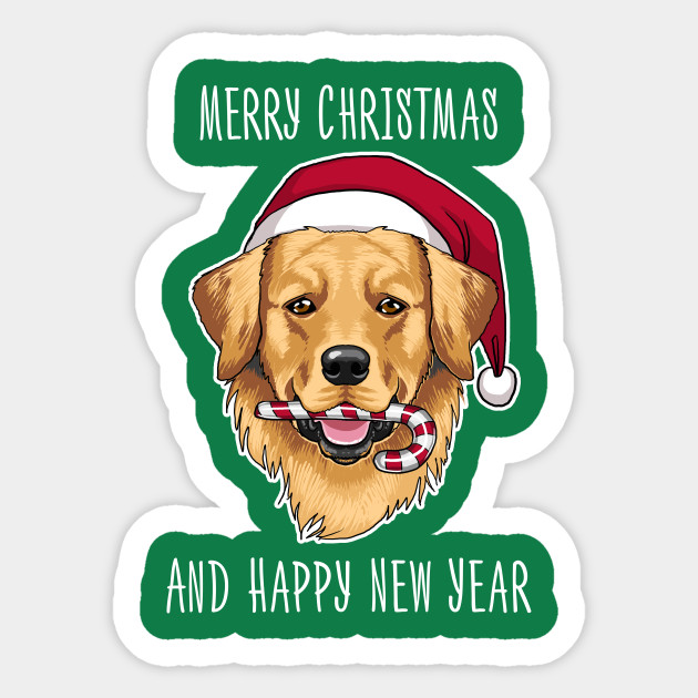 Merry Christmas And Happy New Year Golden Retriever Shirt Christmas