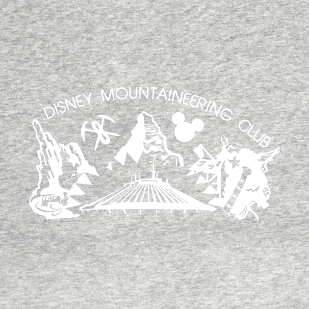 Disney Mountaineering Club (for dark shirts)