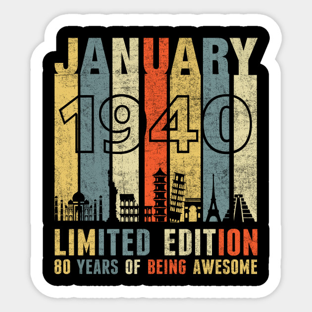 JANUARY 1940 Vintage Funny 80th