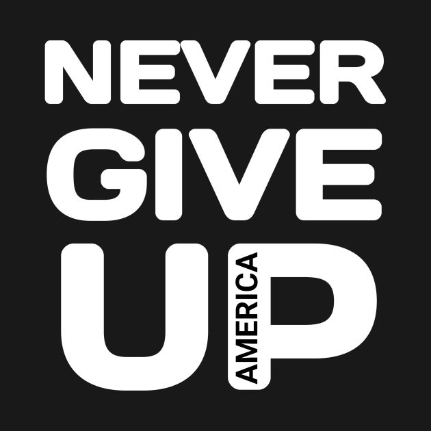 Never give up america
