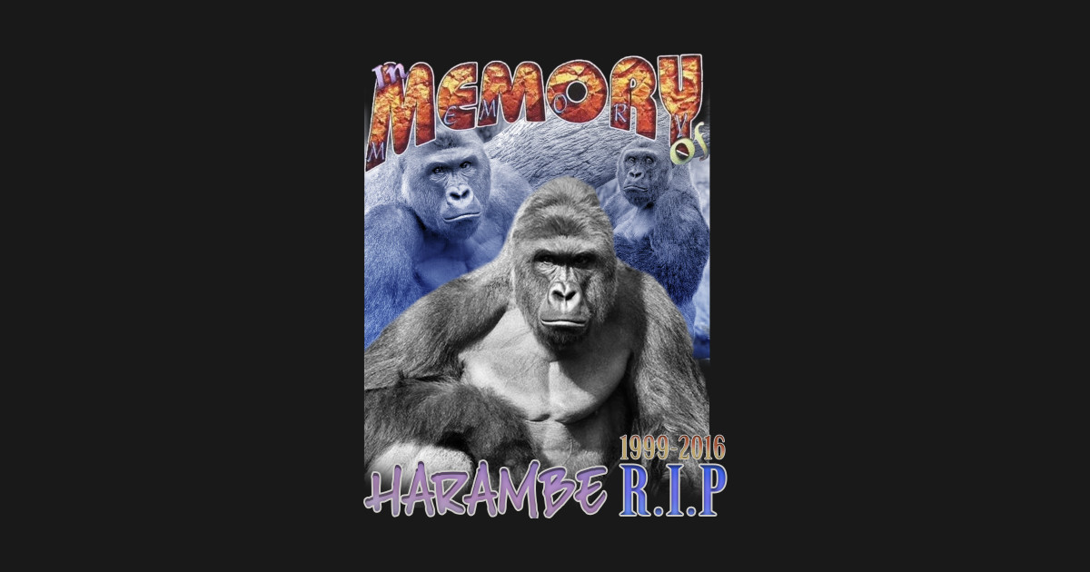 5b23bba72c026 Vintage R.I.P Harambe by grailedvintage