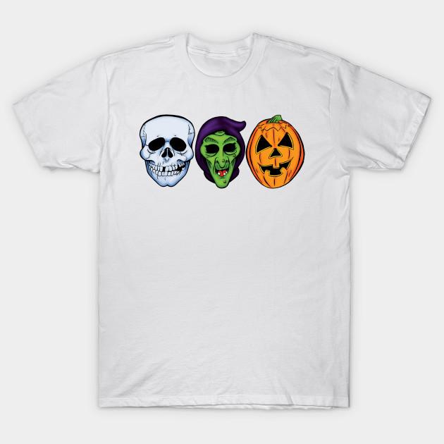 e75e36d6 3 HALLOWEEN MASKS T-Shirt-TOZ