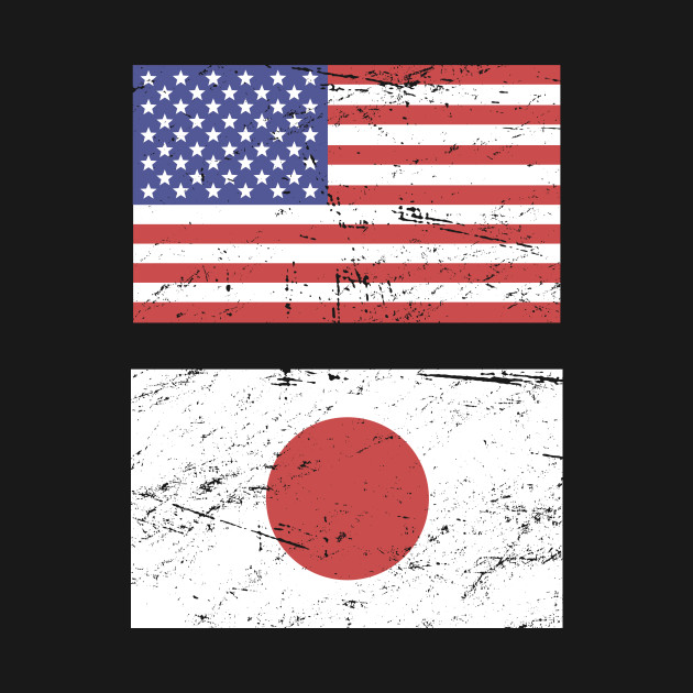 United States Flag & Japan Flag