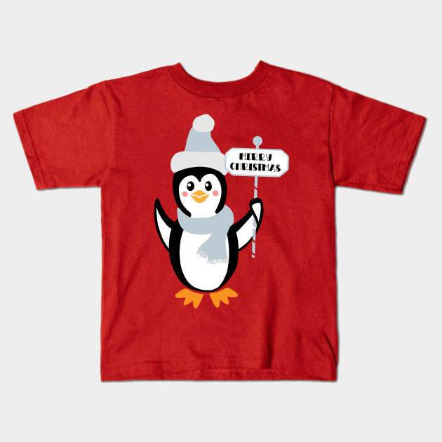 d6f26358c Cute Penguin Merry Christmas Shirt For Adult And Kid Ugly Christmas Sweater  Penguin Lovers Gift Kids T-Shirt