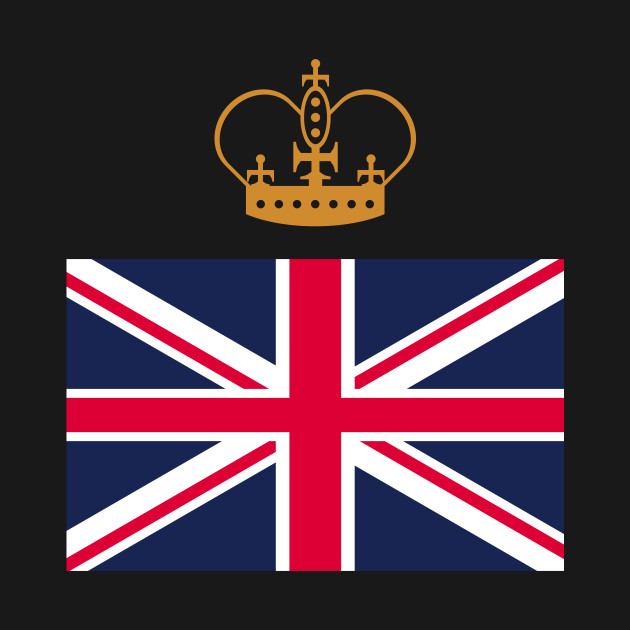 UK flag with crown