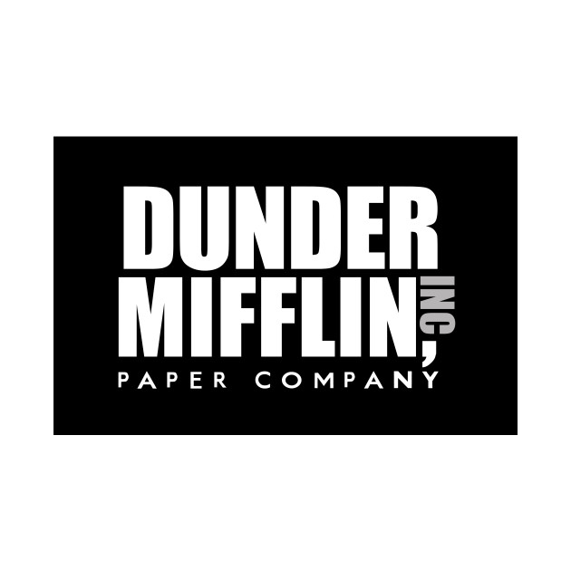 Dunder Mifflin Inc Paper Company Office Logo 2