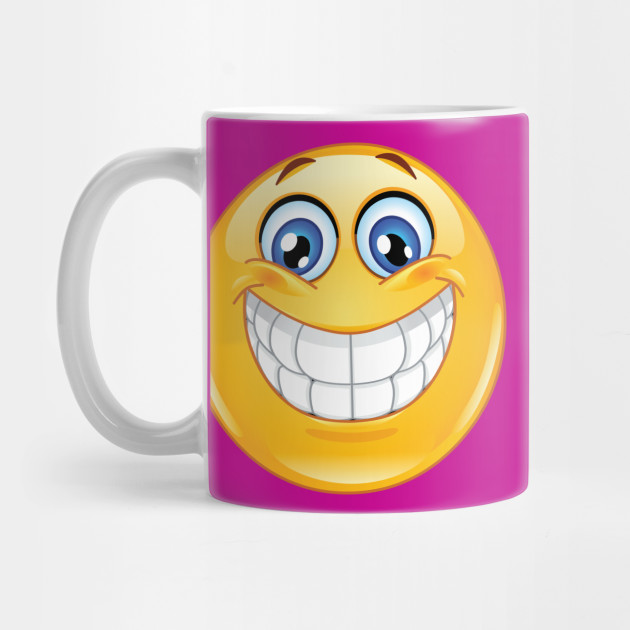 Big Smile Emoji Emoticon Mug Teepublic
