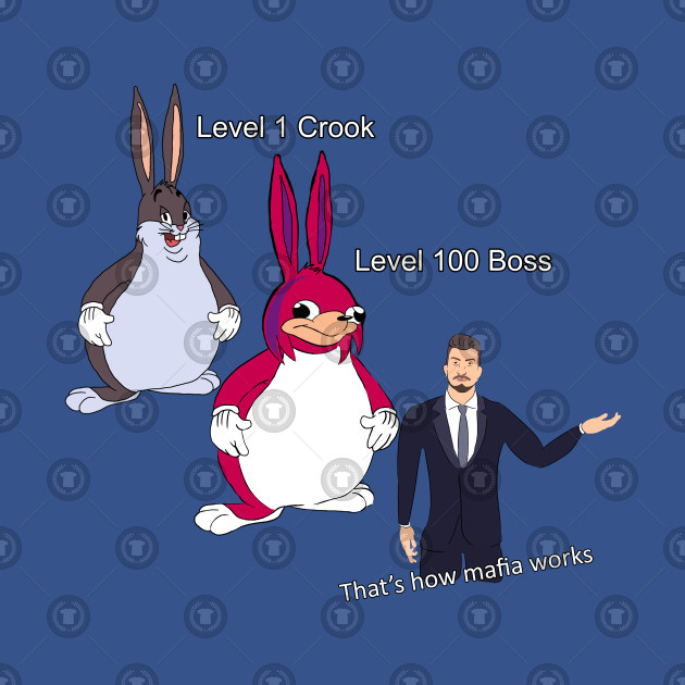 Level 100 Big Chungus Mafia Boss Big Chungus Hoodie Teepublic