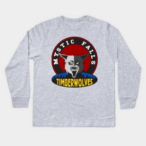 94f11c9a7 Mystic Falls Timberwolves Kids Long Sleeve T-Shirt